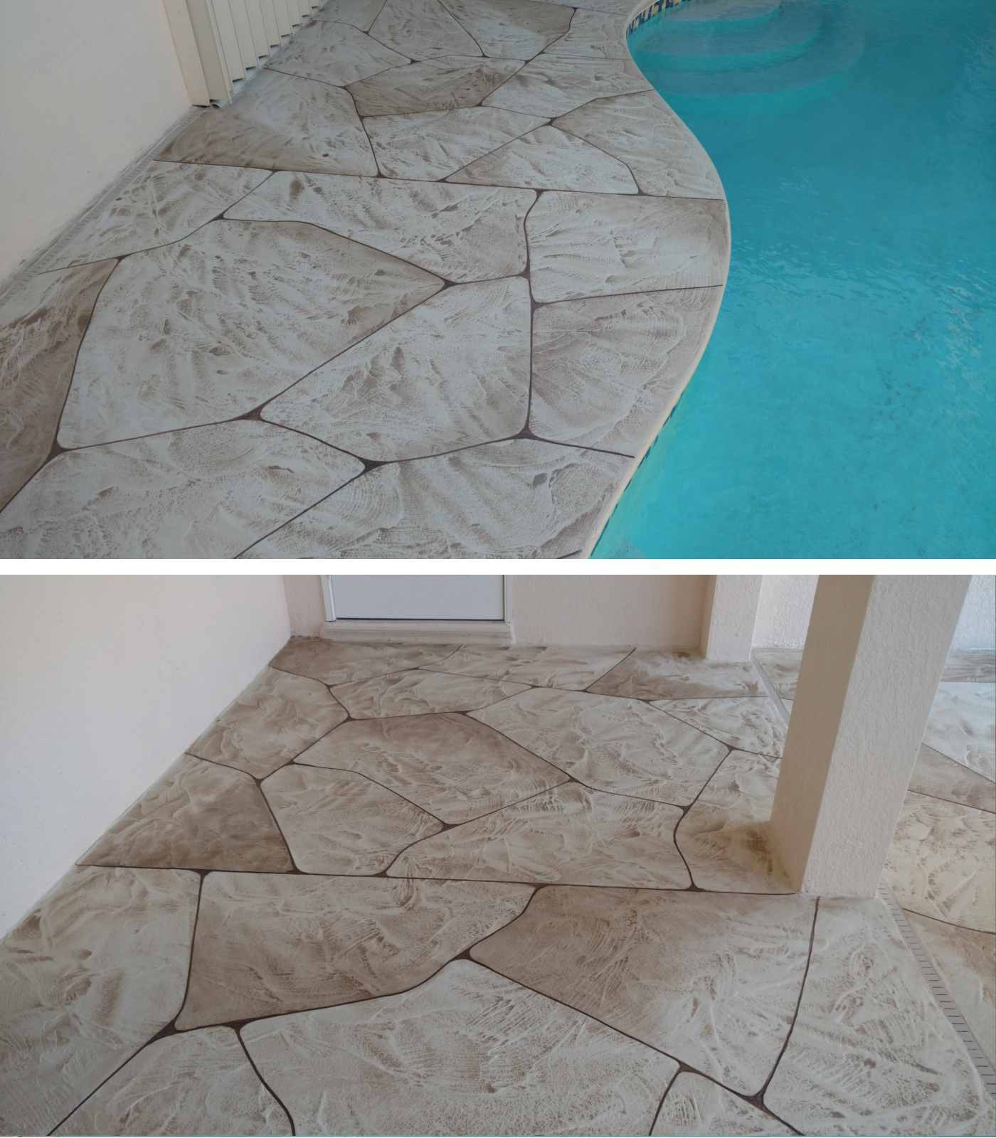 Courtyard Concrete resurfacing Pool Cape Coral