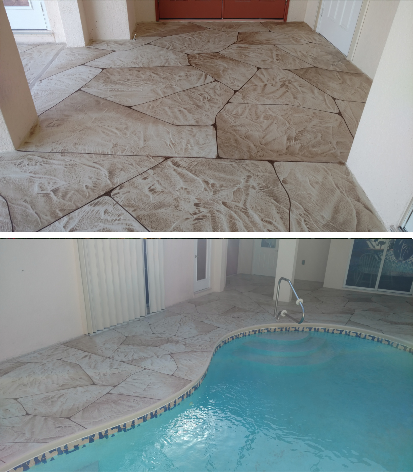 Concrete resurfacing Pool Courtyard Cape Coral