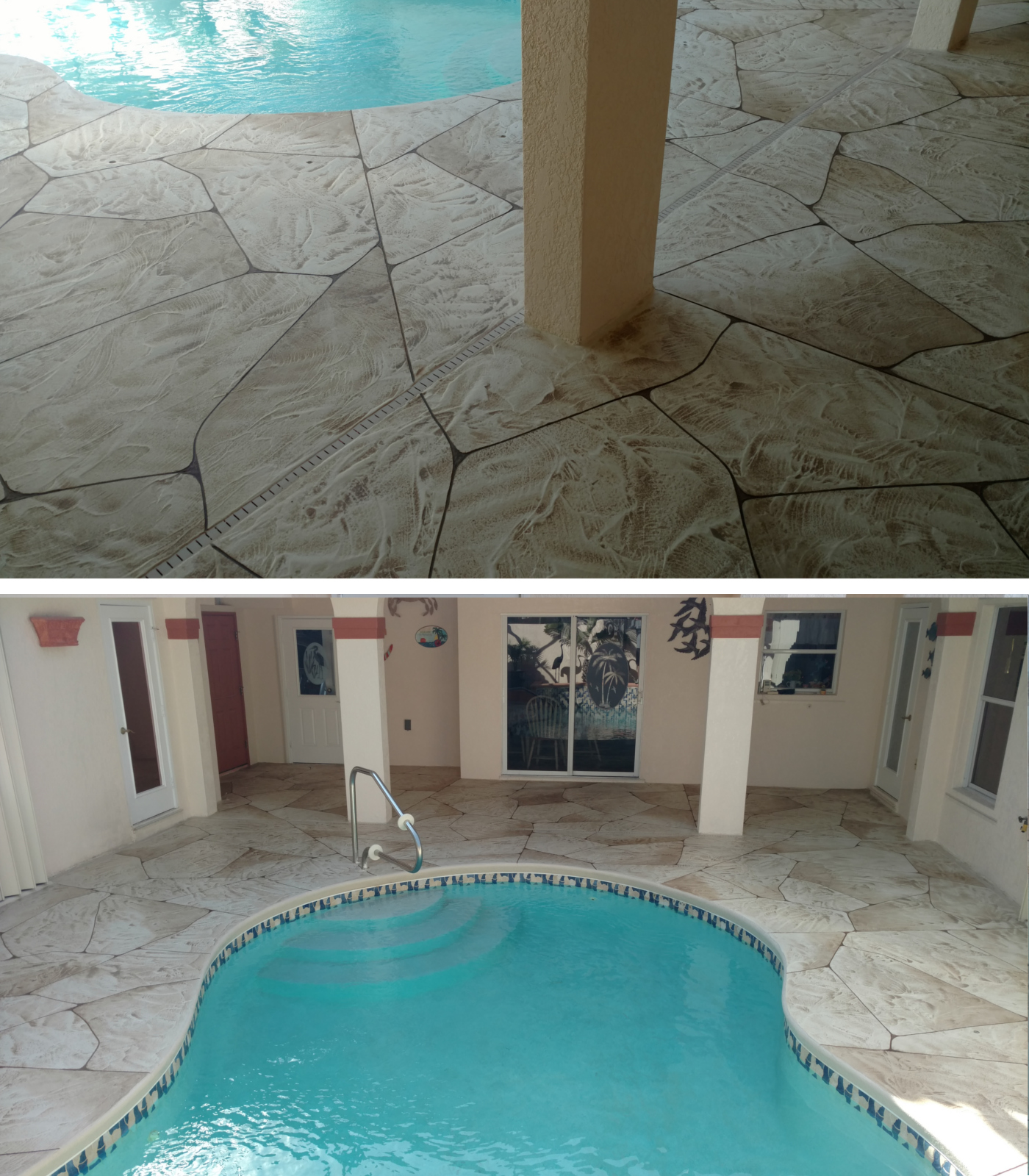 Cape Coral Concrete resurfacing Pool Courtyard
