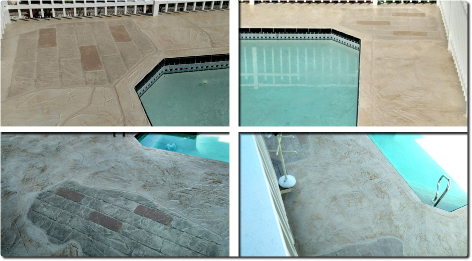 Concrete Landscaping Pool Deck